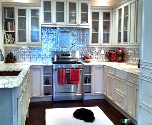 tin ceiling tiles in kitchen 76 best tin backsplashes images on kitchen 8528