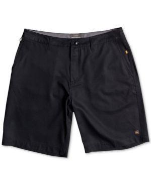 Quiksilver Men's Striker 3 Stretch Quick Dry Hybrid Shorts  - Black 30