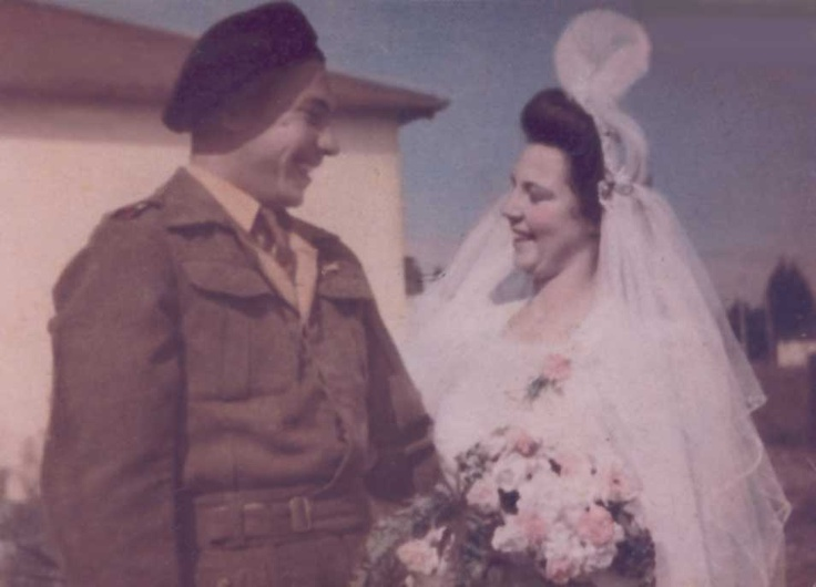 My grandparents on their wedding day 24.06.1943
