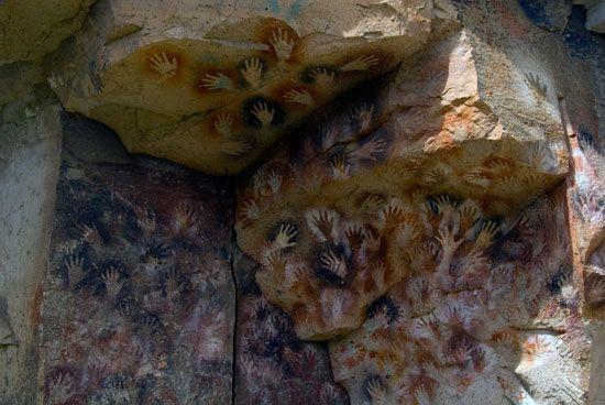 Pintura Rupestre -Cueva de las Manos - Los Antiguos - Santa Cruz