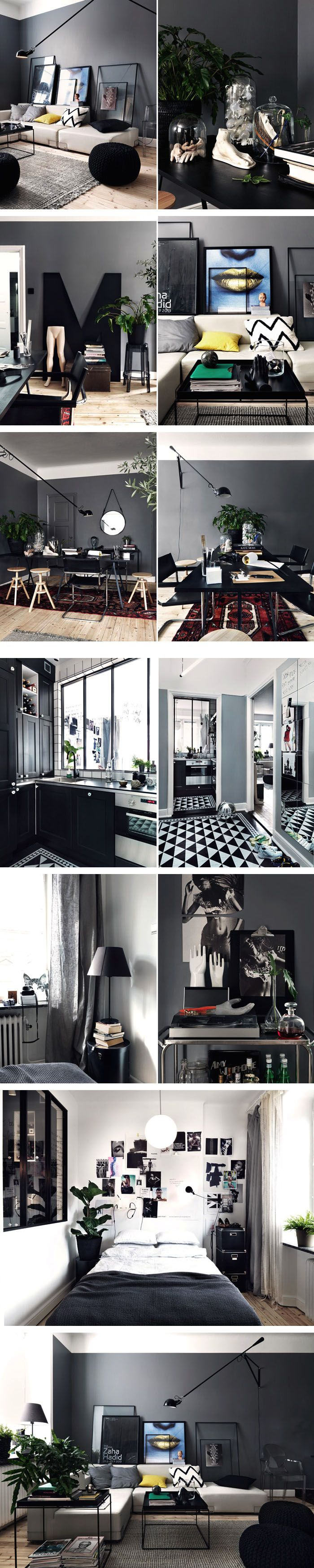 Grey masculine apartment