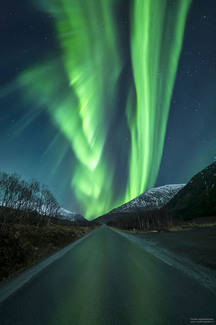 Aurora road by Frode Abrahamsen on 500px