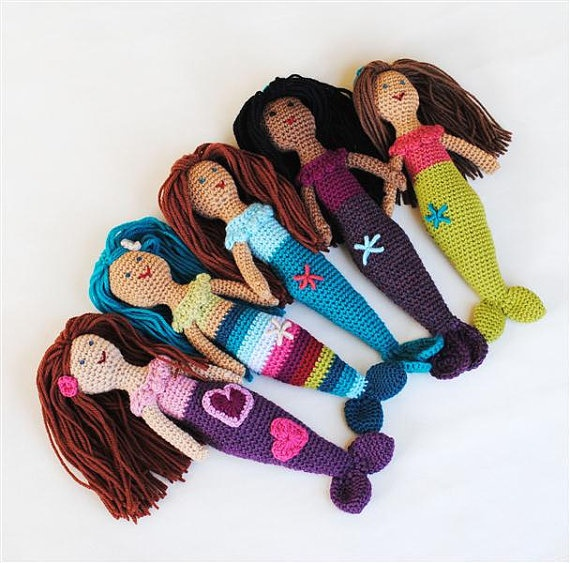 Design Your Own Mermaid Doll - You Choose Colors - Natural -5576