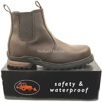 """""""WORKFORCE""""  Waterproof Steel Toe Cap Safety Dealer Boots. Size 6 - 13. WF8D-P in Business, Office & Industrial, Agriculture/Farming, Farm Implements & Equipment 