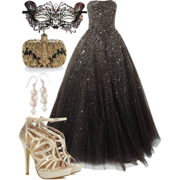"""Masquerade Ball"" by aerochic on Polyvore      so want to do this for my 18th birthday"