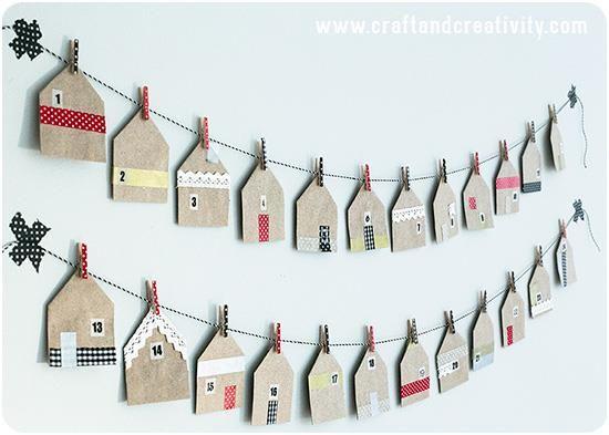 Aftelkalender huisjes