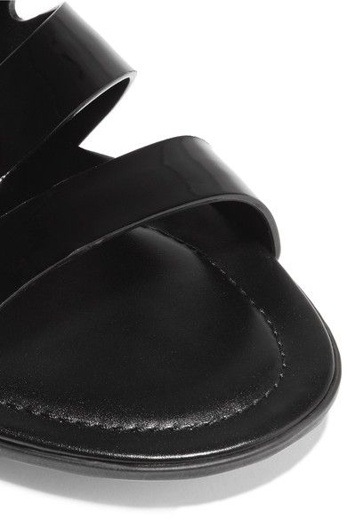 Tod's - Cutout Patent-leather Sandals - Black - IT37.5