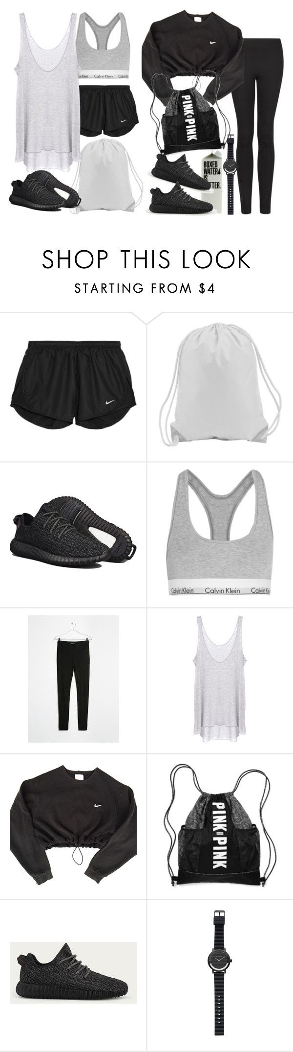 """Untitled #8527"" by nikka-phillips ❤ liked on Polyvore featuring NIKE, adidas, Calvin Klein Underwear, MANGO, Enza Costa, Victoria's Secret and Witchery"