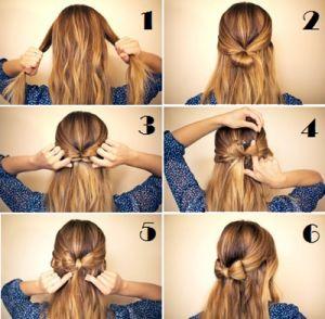 Eenvoudige opsteekkapsels lang haar