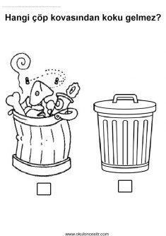 Kokulu Kokusuz Kavramı, fragrant odorless worksheets and coloring pages