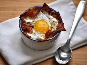Baked Dippy Eggs with #Bacon | G-Free Foodie #GlutenFree