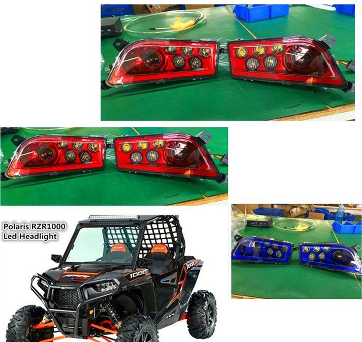 (149.00$)  Buy here - http://ai5y2.worlditems.win/all/product.php?id=32785586900 - Red Blue Polaris RZR 1000 accessories Off road Led Headlight Kit Headlamp For ATV UTV RZR 900 Polaris 1000 RZR XP 4 1000 TURBO