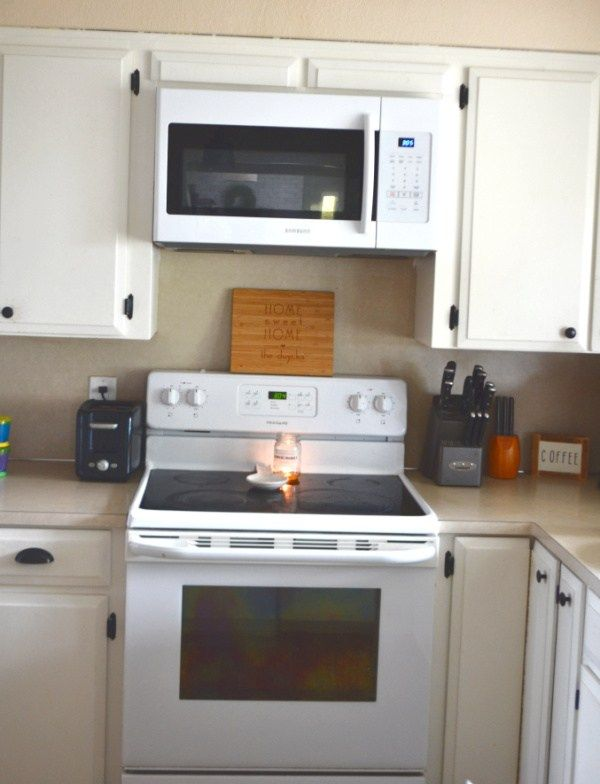 How To Install A Microwave Above A Stove Range And Remove The Cabinets Overhead Microwaveinstall 1905farmhouse In 2020 Microwave Above Stove Microwave Stoves Range