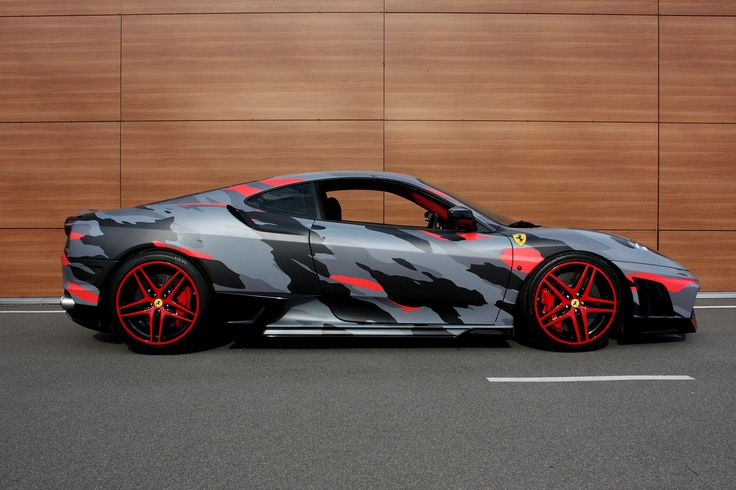 "Ferrari f430 camo | Студия дизайна ""ТРАФАРЕТ-ТАТУ"""