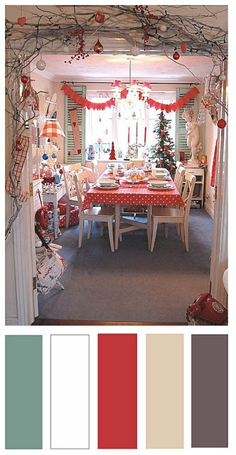 Scandinavian Style Colour Palette for Christmas