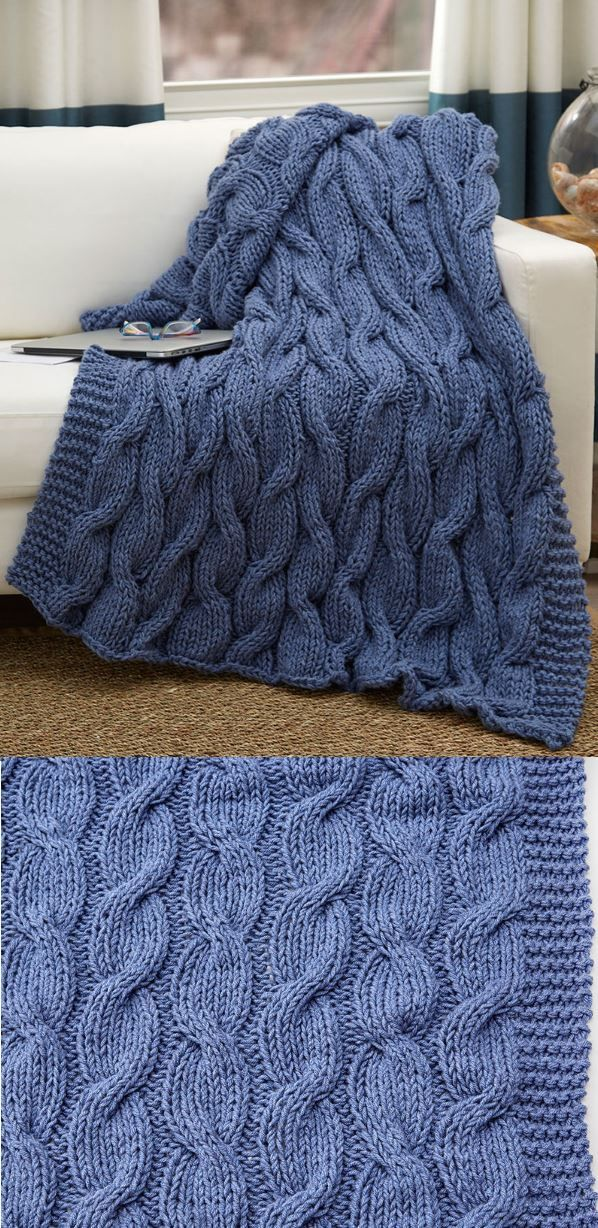 10 Free Chunky Cable Knit Blanket Pattern Knitted Blankets