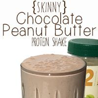 Target finally started carrying PB2 (powder peanut butter). I love it, it makes these protein shakes so much better. Any chocolate protein powder will work plus banana. I use almond milk instead of cows milk.