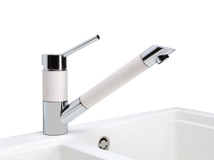 Orbit Sink Mixer, White | Heritage Hardware