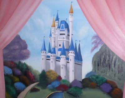 1000 images about castles on pinterest for Disney castle mural