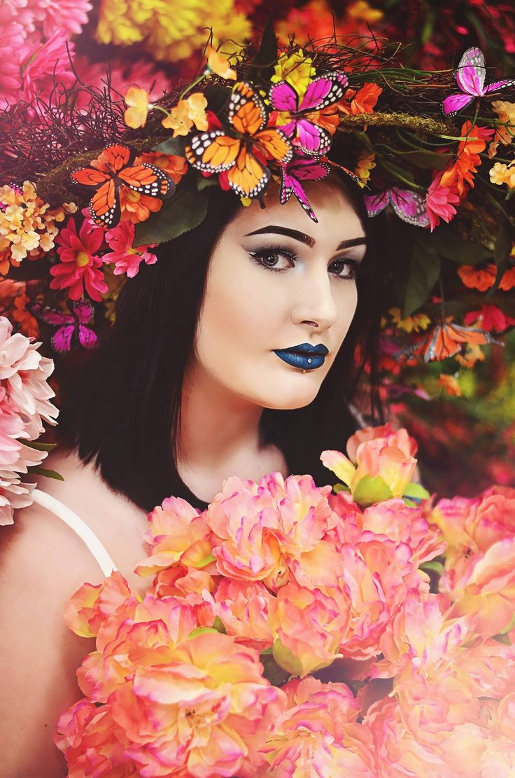 Photo taken in Michael's store, model is Aerial Wright (IG : Aerialtlm) , makeup also by Aerial. Photo by Mia Darling (IG: MiaDarling_PhotographicArtist , FB: Mia Darling Photographic Artist)  Www.facebook.com/midarlingphotographicartist     Ugly location photo challenge, Hobby lobby photo challenge, Michael's photo challenge, butterflies, makeup