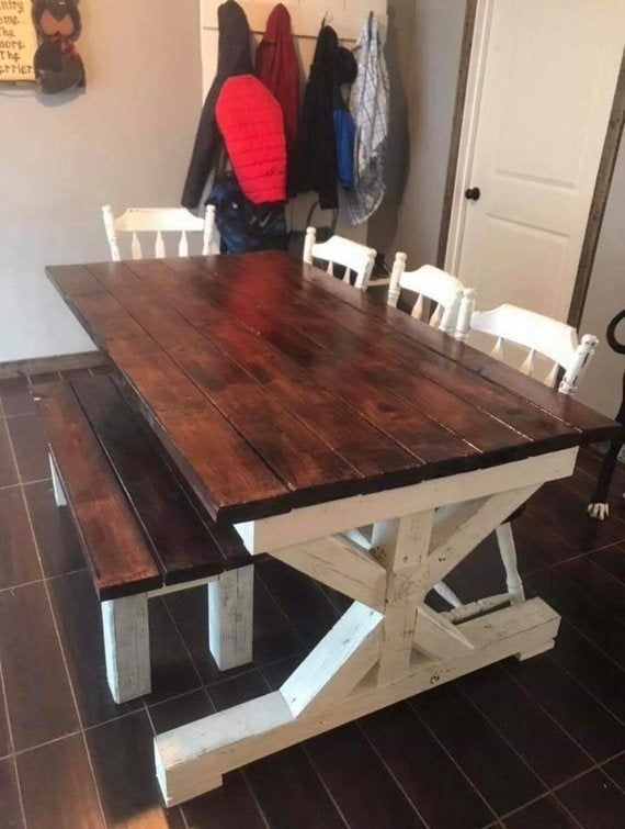 farmhouse kitchen table #custom #farmhouse #farmhouse ...