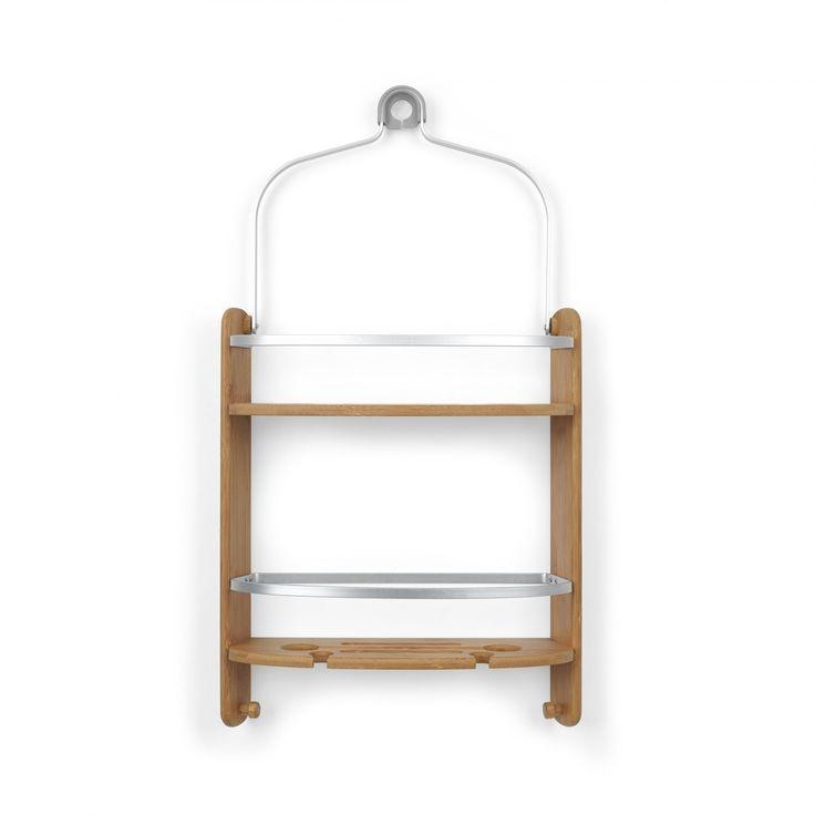 Käytännöllinen, bambua ja alumiinia oleva suihku-saippuateline suihkuun. Suihkuteline ei vaadi kiinnitystarvikkeita, kiinnitys suihkun yläosaan, Kevytrakenteinen, mutta kestävä saippuateline sisältää irroitettavia S koukkuja. Umbran Barrel suihku