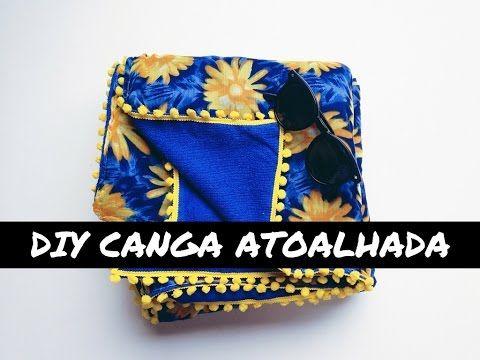 DIY | COMO FAZER CANGA ATOALHADA - YouTube