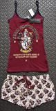 PRIMARK Team Gryffindor Harry Potter Vest & Shorts PJ Hogwarts Set Sizes 6 - 20 - (Size A) 6 - 8 (UK size)
