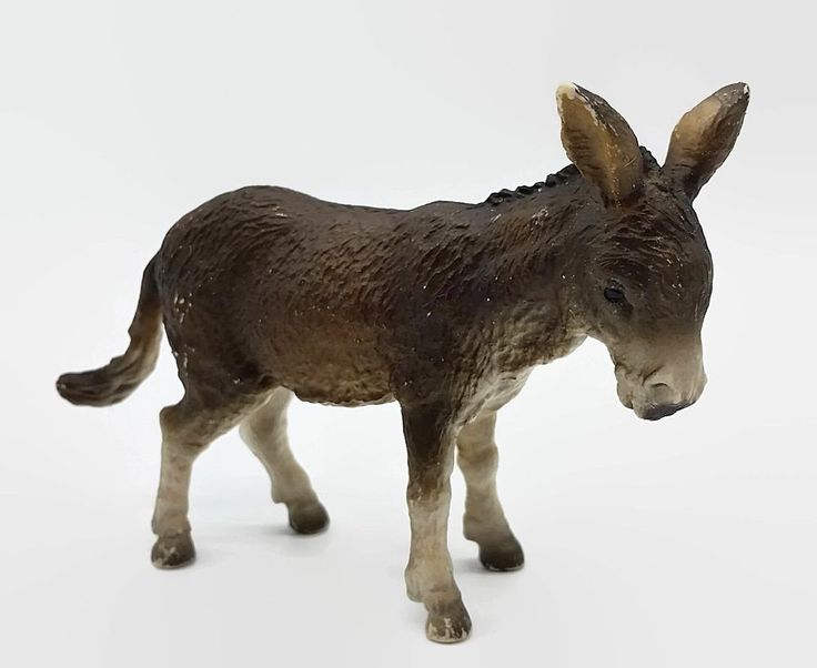 Vintage Schleich Donkey Figure 1989 Pretend Play Farm Animal Toy #Schleich