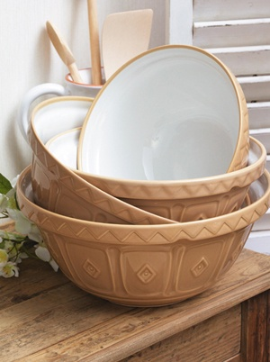 Mason Cash Traditional Mixing Bowls will forever remind me of my Grandma and baking with her. <3