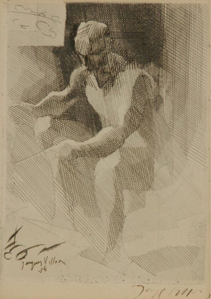 phileas69:Jacques VillonLe peintre décorateur / The painter decoratorPointe sèche et gravure à l'eau-forte sur papier ivoire / Drypoint and etching on ivory paper20.8 x 32 cm1931(Via the Art Institute Chicago)(plus de / more by Jacques Villon)