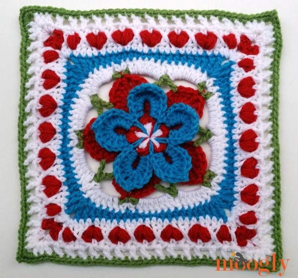 The 2014 Moogly Afghan Crochet-a-Long: Block #22!