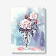 Холст «Зимние розы»