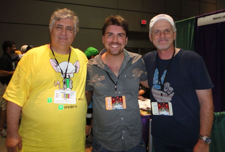 Andrew Suydam, Maurice LaMarche and Rob Paulsen