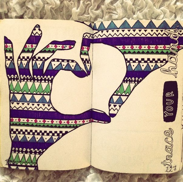 Original pinner sez: Wreck This Journal << I wanna do something like this on this page