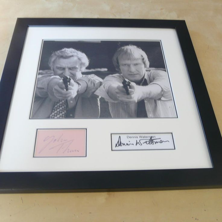 THE #SWEENEY #JOHN #THAW & #DENNIS #WATERMAN FRAMED #ORIGINAL #AUTOGRAPHS  Professionally framed and double mounted original autographs of #JohnThaw & #DennisWaterman. The #photo is 10 ins x 8 ins with the #signatures mounted underneath #genuine #in-person #collector #tv #detective #police #classic #star #celebrity #coa #certificate of #authenticity #uacc #aftal #memorabilia http://tipsrazzi.com/ipost/1508100605787763569/?code=BTt2YK9h_Nx
