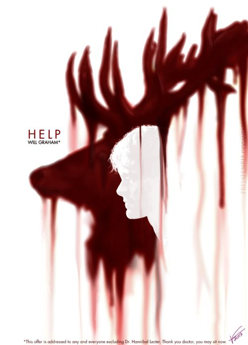 He's trapped by the darkness! Help him! Cool picture, fannibal!
