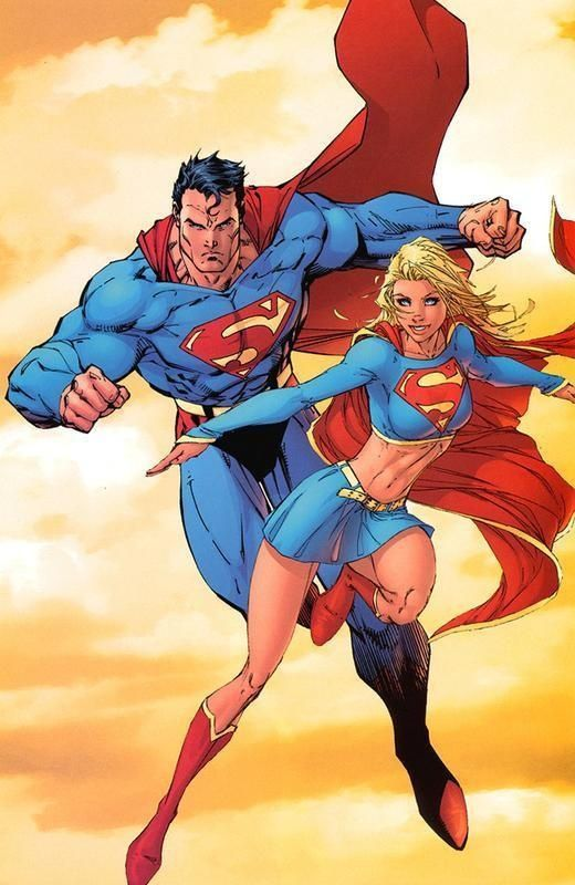 Supergirl and Superman by Michael Turner