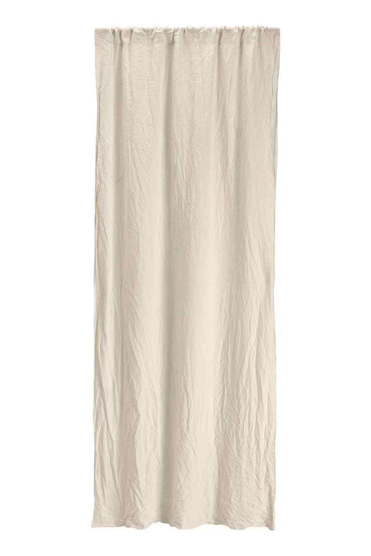 Cortinas de linho, pack de 2: QUALIDADE PREMIUM. Cortinas drapeadas com cair pesado em linho lavado com passadeira larga para o varão. Inclui fita adesiva para fazer a bainha na altura pretendida.