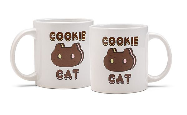 Cookie Cat! We've been scouring the universe for merchandise relating to this now-discontinued ice cream treat, and are proud to bring you a 20-ounce Cookie Cat mug for all your super duper yummy beverage needs.