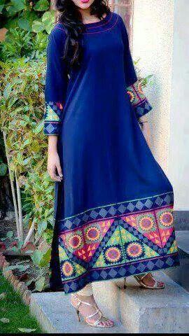 Peacock Blue kurta. Indian fashion.