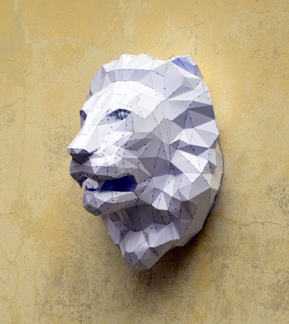 Make Your Own Lion Sculpture. Papercraft Lion by PlainPapyrus