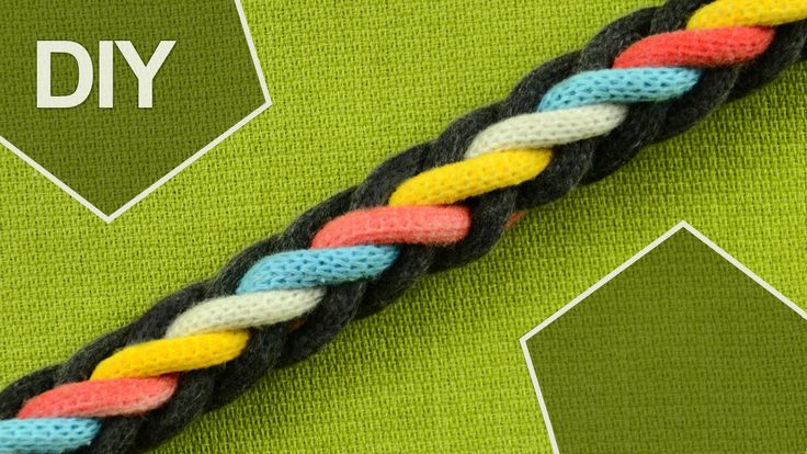 How to Make Round Braid with EIGHT strands. It's easy to make and suitable for kids and beginners projects. This plait can be used for making nice bracelet or shoelaces may also be useful for hairdo. #HowTo #RoundBraid #Tutorial