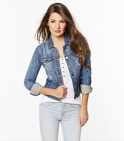 Rock this classic & timeless medium wash denim jacket this Spring!