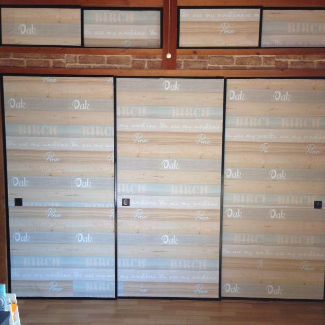 manuさんの、平屋,築30年超,ふすまリメイク,壁紙DIY,レンガ風壁紙,こども部屋,和室を洋室に!,壁/天井,のお部屋写真