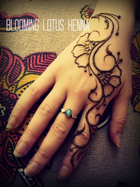 Budding Arabic Pansy Henna Strip; hand | Flickr - Photo Sharing!