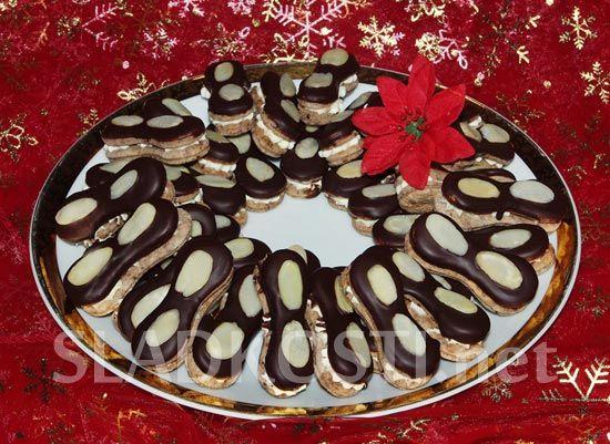 Čokoládové jazýčky s vanilkovým krémem dia