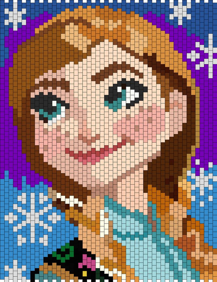 http://kandipatterns.com/patterns/characters/anna-from-disney-frozen-13912