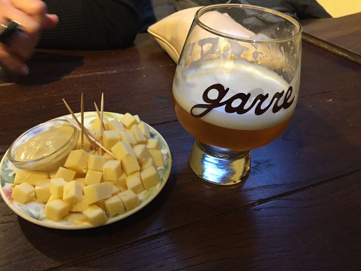 The fantastic Tripel De Garre (11,5%), a very alcoholic tripel, only served on tap at another mythic place, De Garre Pub in Brugge, Belgium. You are only allowed to have 3 of these...