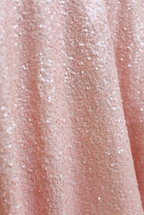 """Blush PINK SEQUIN OVERLAY, Light Pink Tablecloth, 72"""" x 72"""",Sparkly Table Overlay,Sequin Table Cloth,Glitter Tablecloth, Sequin Table Square on Etsy, $75.00"""